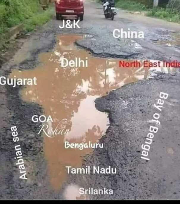 ಭಾರತ - J & K China * Delhi North East India Gujarat GOA Bay of Bengal Bengaluru Arabian sea Tamil Nadu Srilanka - ShareChat
