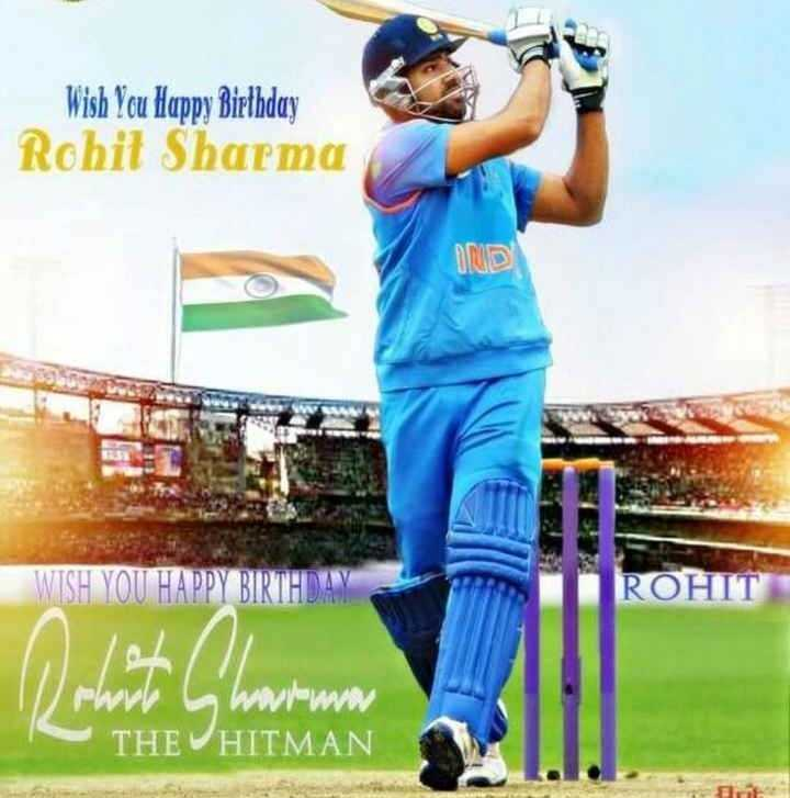 ರೋಹಿತ್ ಶರ್ಮ ಹುಟ್ಟುಹಬ್ಬ - Wish You Happy Birthday Rohit Sharma DOVOD ROHIT / / rhorl wwww THE HITMAN - ShareChat