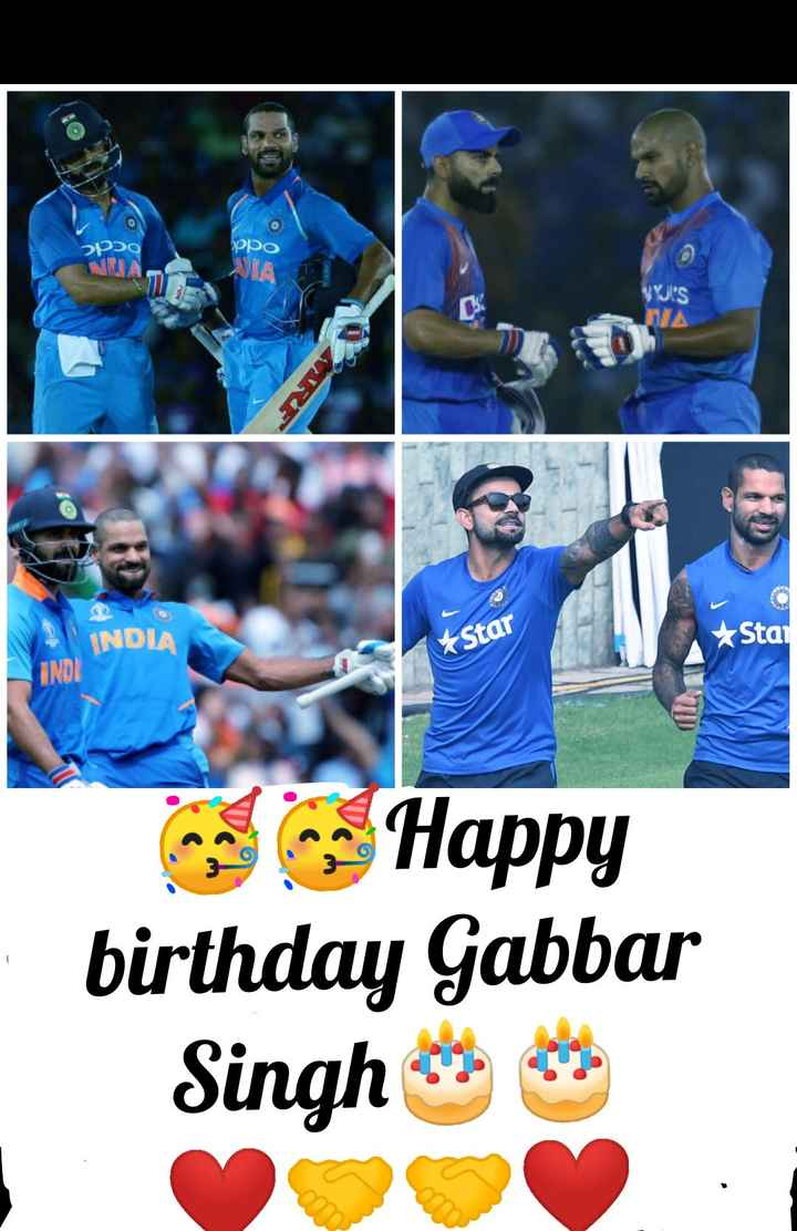 🏏ಶಿಖರ್ ಧವನ್ ಹುಟ್ಟು ಹಬ್ಬ - 2poo рро WY ' S NA INDIA Star Star INDI Happy birthday Gabbar Singh - ShareChat