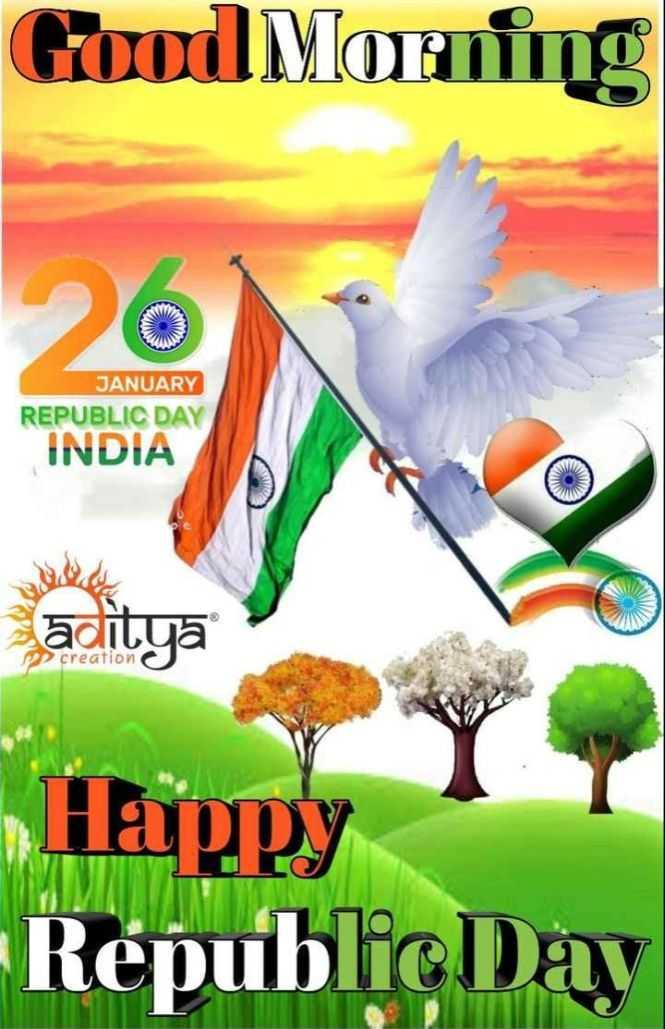 🌅ಶುಭೋದಯ - Good Morning JANUARY REPUBLIC DAY INDIA aitya PP creation Happy Republic Day - ShareChat