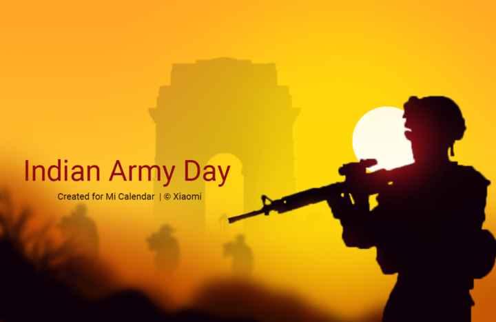 💃ಸಂಕ್ರಾಂತಿ ಡಬ್ ಸ್ಮ್ಯಾಶ್🕺 - Indian Army Day Created for Mi Calendar © Xiaomi - ShareChat