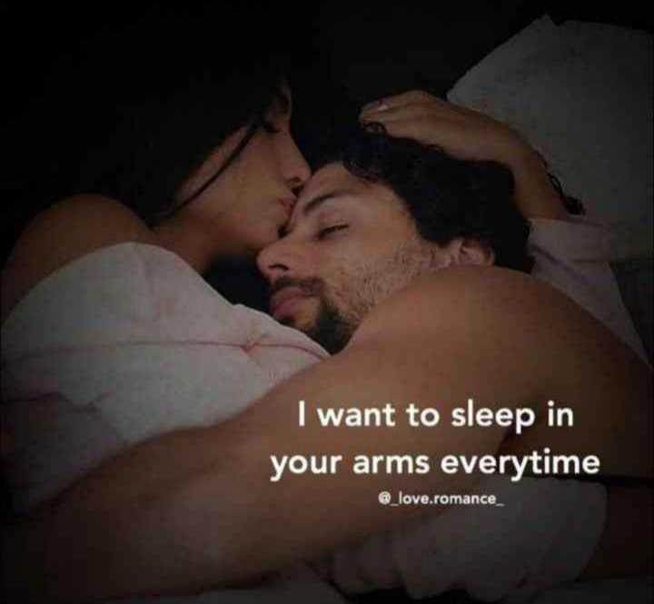 💌 പ്രണയം - I want to sleep in your arms everytime @ _ love . romance - ShareChat