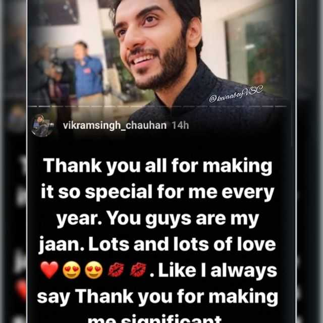 🗽 ഷെയര്ചാറ്റ് വിശേഷങ്ങള് - SC @ kaaabo , vikramsingh _ chauhan 14h Thank you all for making it so special for me every year . You guys are my jaan . Lots and lots of love . Like I always say Thank you for making ma sianificant - ShareChat