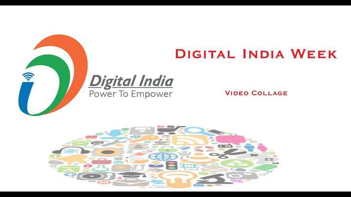 👨‍💻 ડિજિટલ ઇન્ડિયા - DIGITAL INDIA WEEK Digital India Power To Empower VIDEO COLLAGE - ShareChat