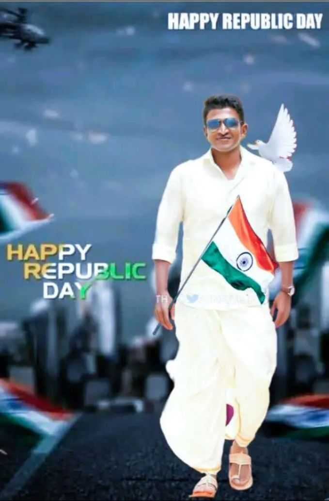 👨‍👨‍👦  ಡಾ.ರಾಜ್ ಕುಟುಂಬ - HAPPY REPUBLIC DAY HAPPY REPUBLIC DAY - ShareChat