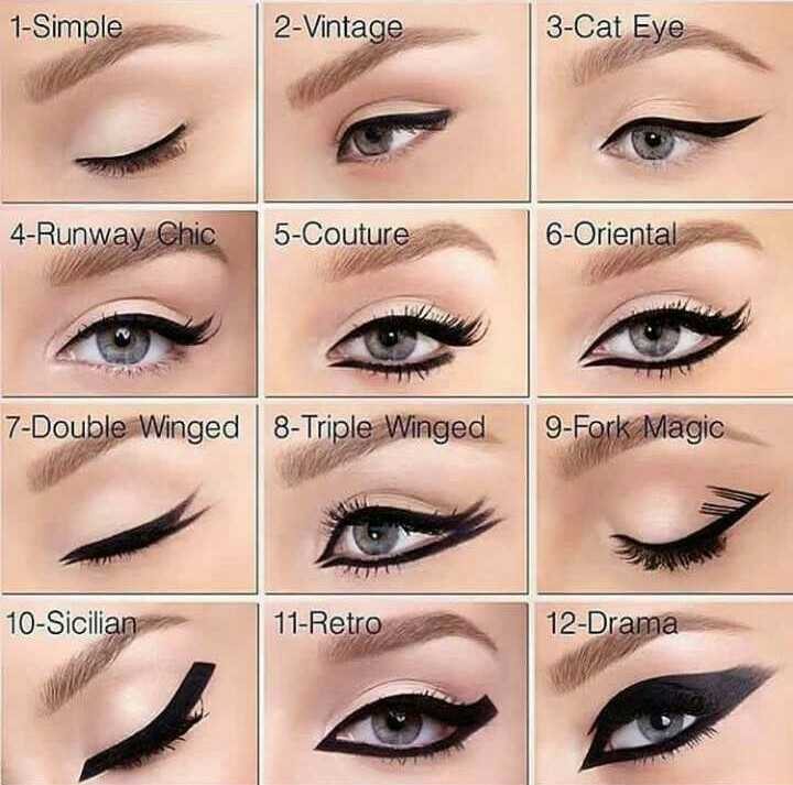 👁🗨kajal Eyeliner Challenge - 1 - Simple 2 - Vintage 3 - Cat Eye 4 - Runway Chic 5 - Couture 6 - Oriental 7 - Double Winged 8 - Triple Winged 9 - Fork Magic 10 - Sicilian 11 - Retro 12 - Drama - ShareChat
