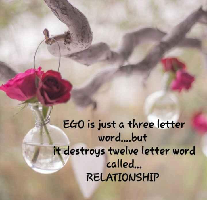✍️కోట్స్ - EGO is just a three letter word . . . . but it destroys twelve letter word called . . . RELATIONSHIP - ShareChat