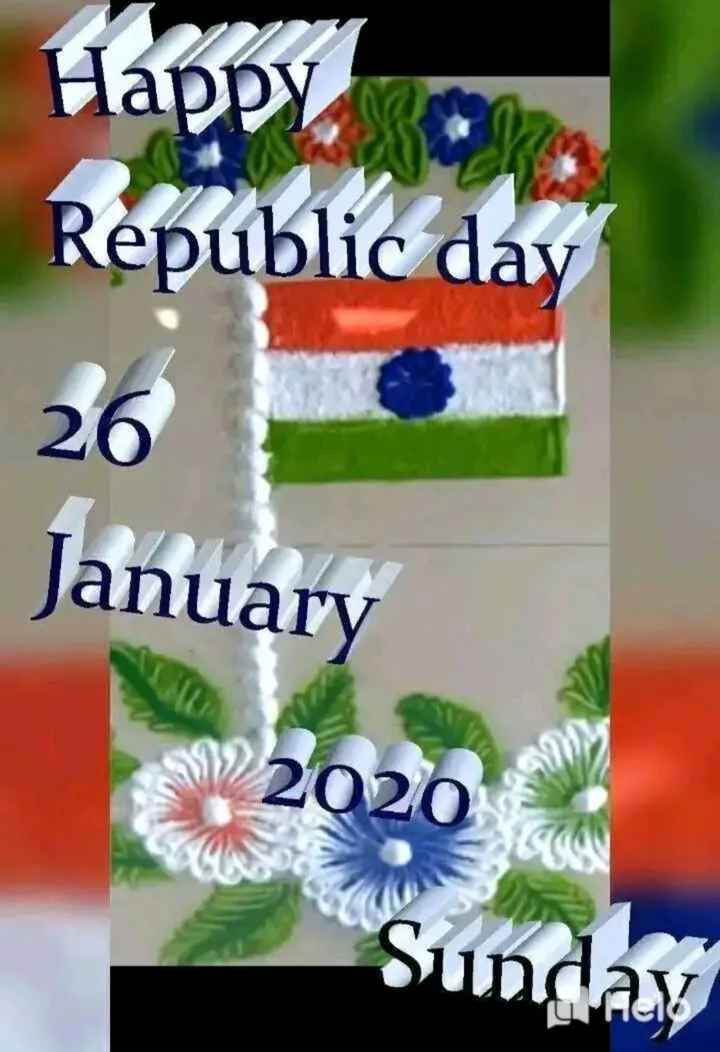 ✍️కోట్స్ - Happy , . Republic day 26 January - 2020 Sunday - ShareChat
