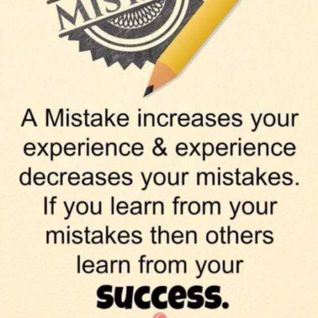 ✍️కోట్స్ - MO A Mistake increases your experience & experience decreases your mistakes . If you learn from your mistakes then others learn from your Success . - ShareChat