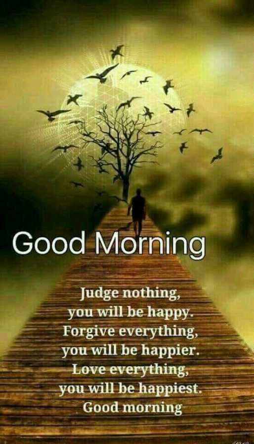 ✒ शायरी - Good Morning Judge nothing , you will be happy . Forgive everything , you will be happier . Love everything , you will be happiest . Good morning - ShareChat