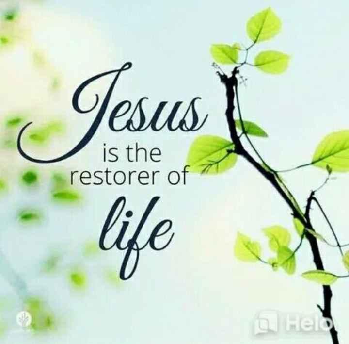✝జీసస్ - resus is the restorer of Jesust life Heel - ShareChat