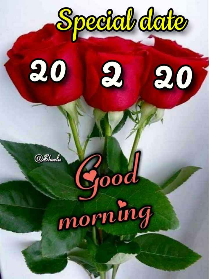 ☀️गुड मॉर्निंग☀️ - Special date 20 2 20 @ Shoelu Good morning - ShareChat