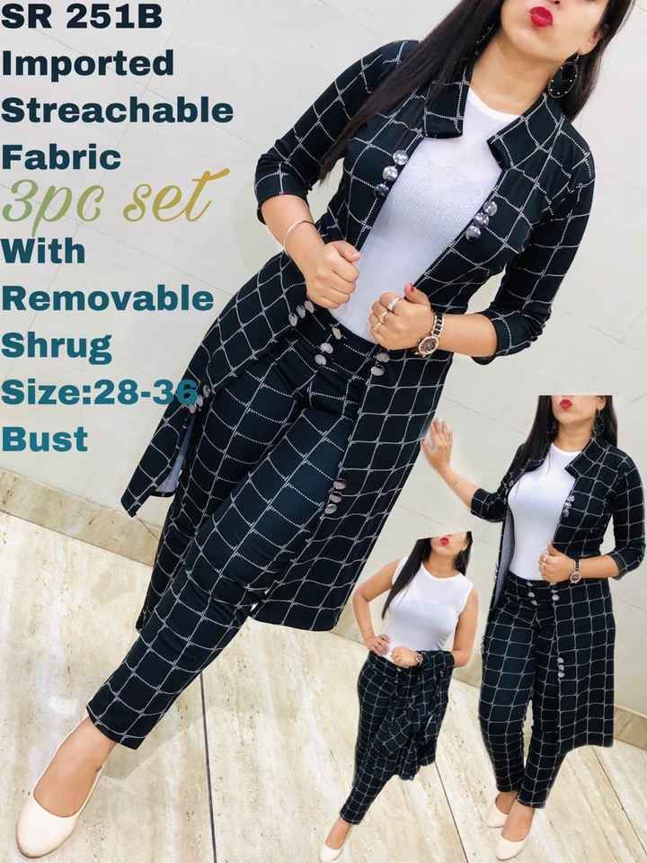 🛍️ Shop - SR 251B Imported Streachable Fabric 306 set With Removable Shrug Size : 28 - 3 Bust - ShareChat
