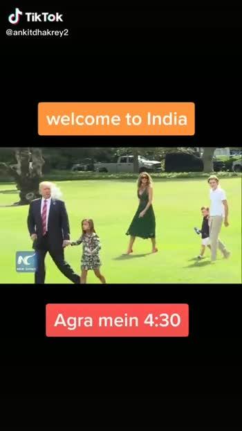 😯ट्रम्प पहुंचे भारत - ShareChat