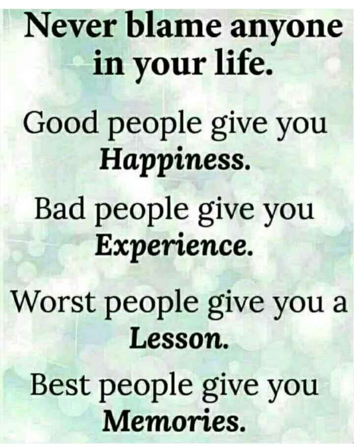 📰 23 ਜੂਨ ਦੀਆਂ ਖਬਰਾਂ - Never blame anyone in your life . Good people give you Happiness . Bad people give you Experience . Worst people give you a Lesson . Best people give you Memories . - ShareChat