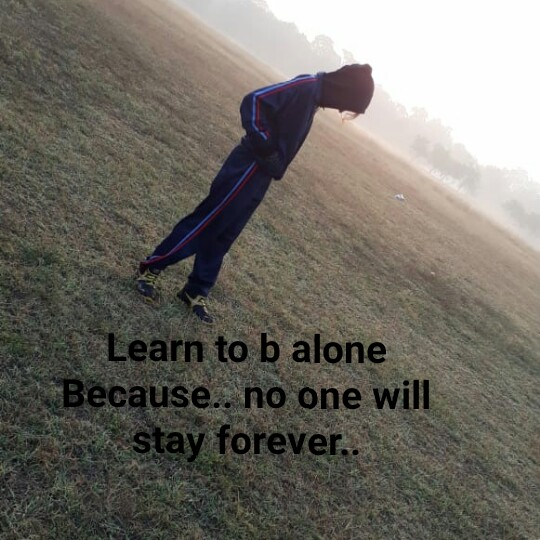 📒 मेरी डायरी - * Learn to b alone Because . . no one will stay forever . . - ShareChat
