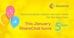 🎉5 ਸਾਲ ਸ਼ੇਅਰਚੈਟ ਦੇ ਨਾਲ🥳 - ShareChat Here ' s another reason we cont wait for the New Year This January , ShareChat turns 5 Years - ShareChat