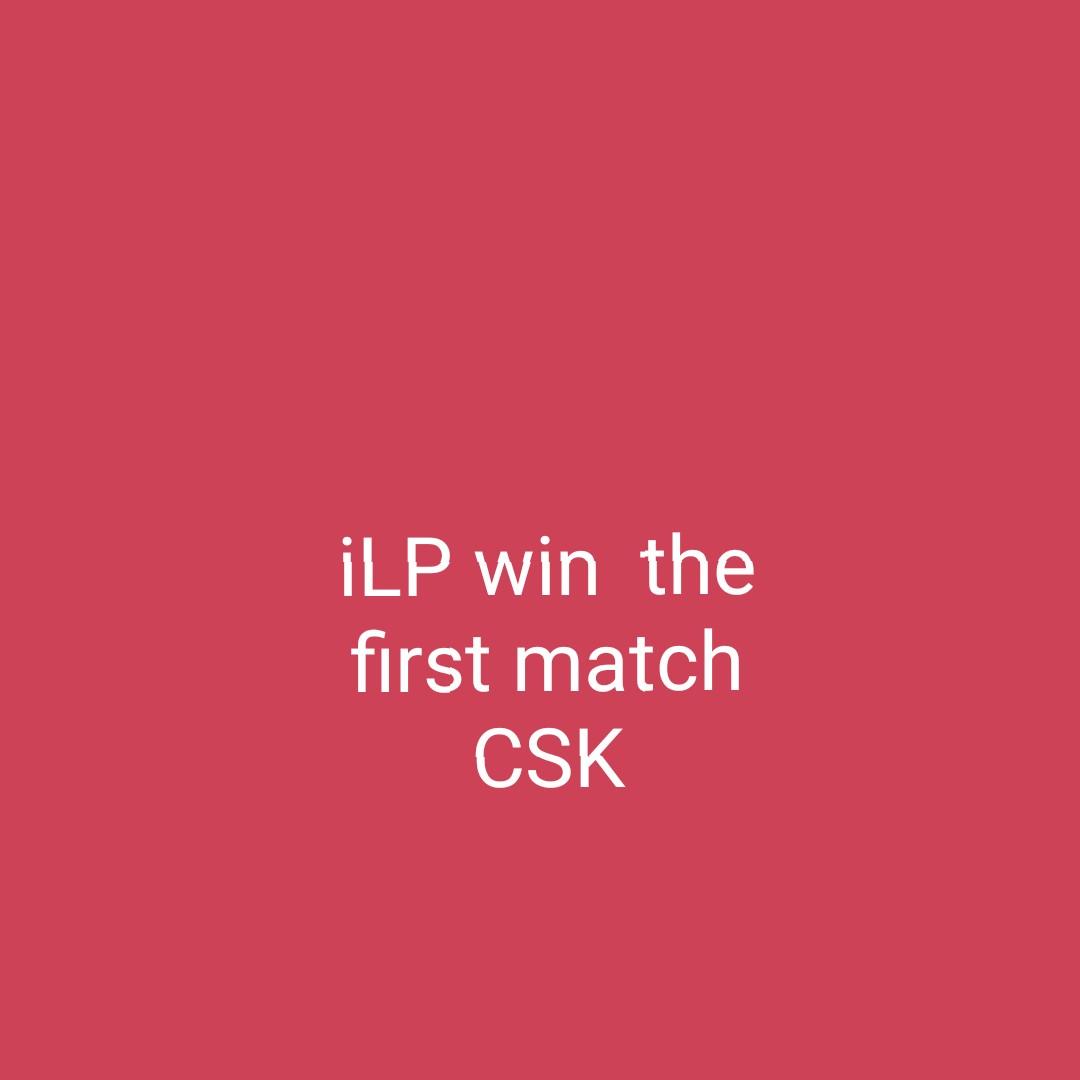 CSK vs RCB (Dhoni vs Khohli) - İLP win the first match CSK - ShareChat