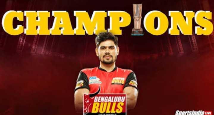 BLR ਬੈਂਗਲੁਰੂ ਬੁੱਲਸ - CHAMPIONS BENGALURU BULLS Sportsindla LIVE - ShareChat