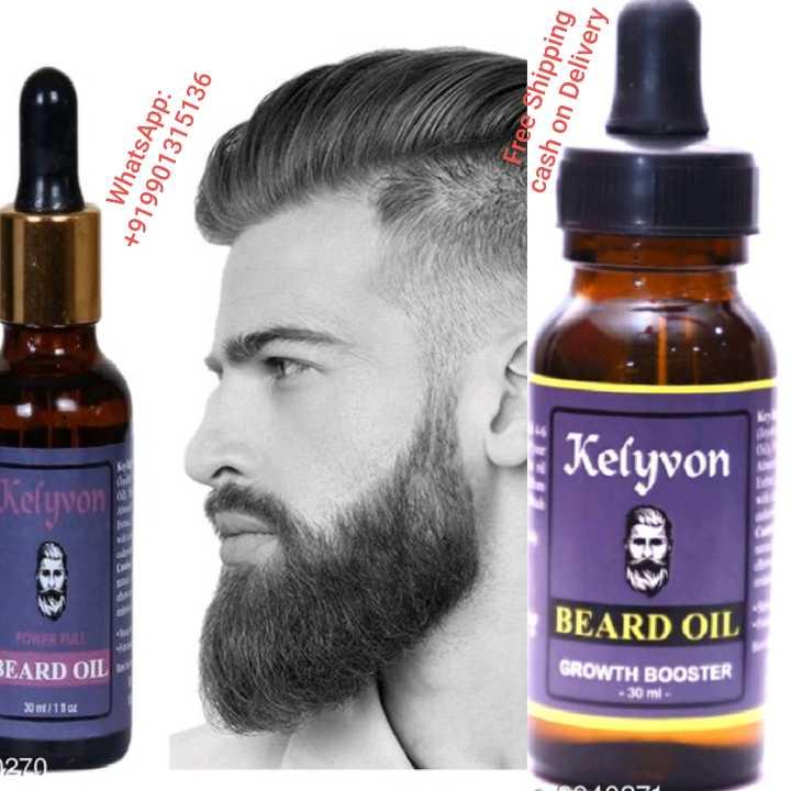 Beard ಸ್ಟೈಲ್ಸ್ - WhatsApp : + 919901315136 Free Shipping cash on Delivery Kelyvon Kelyvon BEARD OIL FOWER FULL BEARD OIL GROWTH BOOSTER - 30 ml 30 / 110 270 - ShareChat