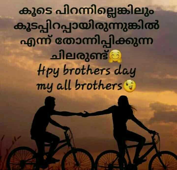 Brothers' Day - കൂടെ പിറന്നില്ലെങ്കിലും കൂടപ്പിറപ്പായിരുന്നുങ്കിൽ എന്ന് തോന്നിപ്പിക്കുന്ന ചിലരുണ്ട് Hpy brothers day my all brothers - ShareChat