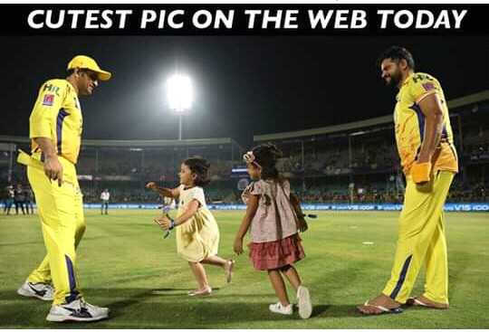 CSK ਲਵਰਜ਼ - CUTEST PIC ON THE WEB TODAY - ShareChat