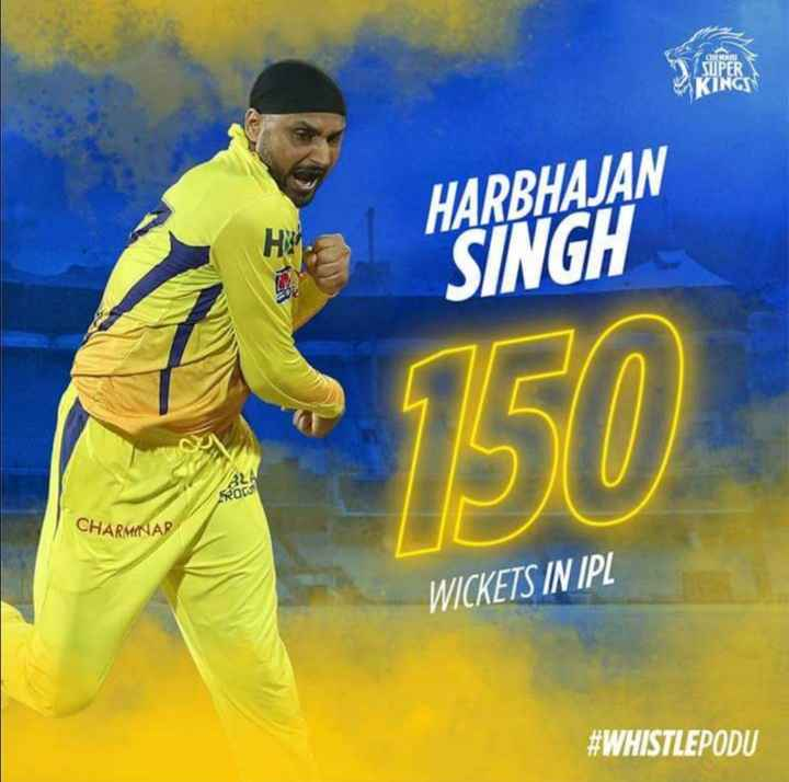 🏏CSK vs DC - HARBHAJAN SINGH 520 CHARMINAR WICKETS IN IPL # WHISTLEPODU - ShareChat