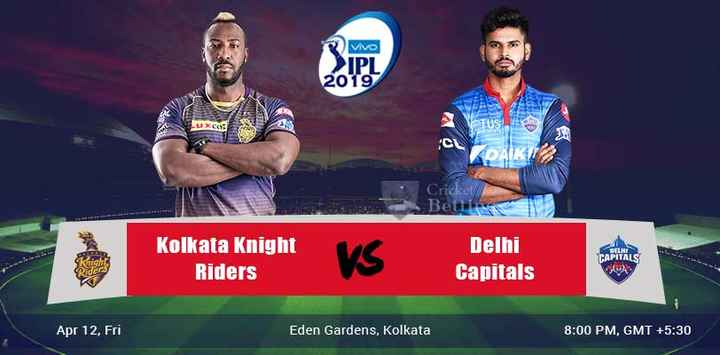 🏏 DC 🔷 vs KKR 🖤 - Vivo IPI 2019 UXCORE ON Cricket Bet Kolkata Knight Riders Delhi Capitals CAPITALS Apr 12 , Fri Eden Gardens , Kolkata 8 : 00 PM , GMT + 5 : 30 - ShareChat