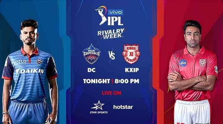 DC vs KXIP - vivo IPL RIVALRY WEEK J DELHI TAPITALS KINGS XI VLOTUS Jio III / DC KXIP TONIGHT 8 : 00 PM LIVE ON WWW hotstar STAR SPORTS - ShareChat