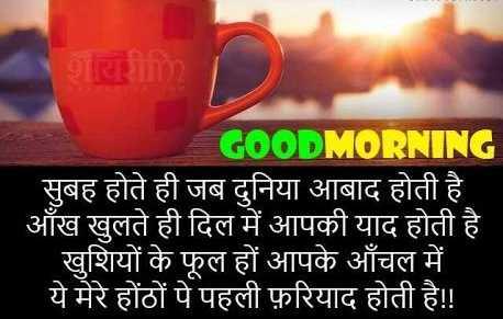 🌞 Good Morning🌞 - GOOD MORNING सुबह होते ही जब दुनिया आबाद होती है । आँख खुलते ही दिल में आपकी याद होती है । खुशियों के फूल हों आपके आँचल में । ये मेरे होंठों पे पहली फ़रियाद होती है ! ! - ShareChat