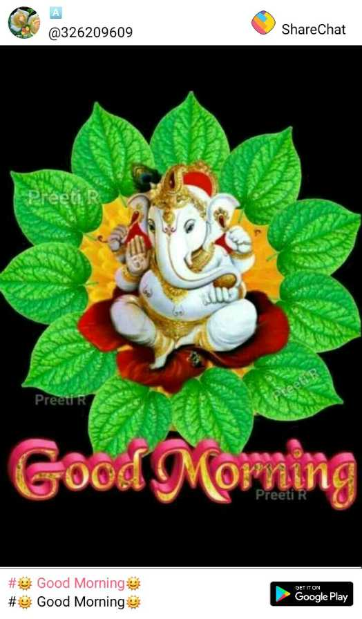 🌞 Good Morning🌞 - @ 326209609 ShareChat Preeti teeti Good Moming Preeti DET IT ON # # Good Morning Good Morning Google Play - ShareChat