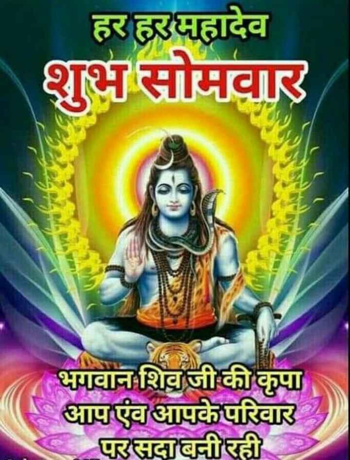 🌞 Good Morning🌞 - हर हरमहादेव शुभ सोमवार भगवान शिव जी की कृपा आप एंव आपके परिवार परसदा बनीरही - ShareChat