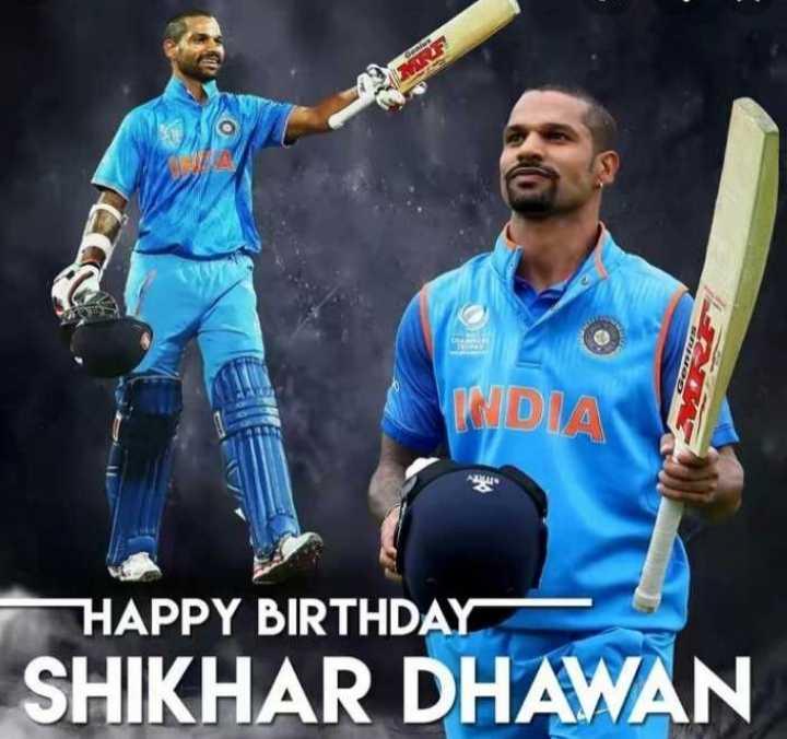 🏏 HBD: શિખર ધવન - INDIA HAPPY BIRTHDAY SHIKHAR DHAWAN - ShareChat