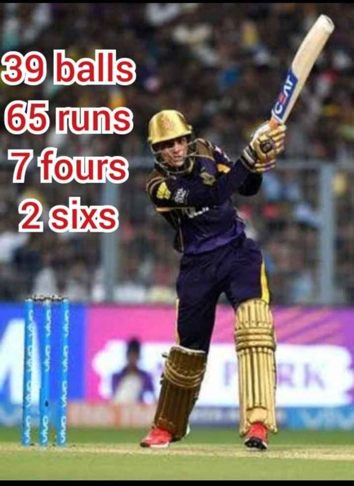 KKR vs DC - 39 balls 65 runs 7 fours 2 sixs - ShareChat