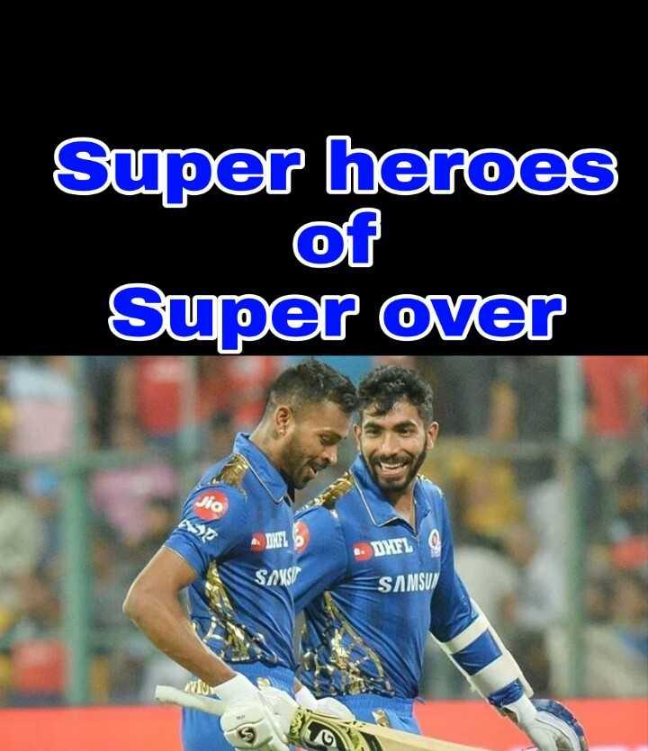 MI vs SRH - Super heroes Super over SIS - DHFL SAS SAMSU - ShareChat