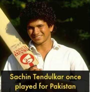 🏆 PAK 🇵🇰 vs NZ 🇳🇿 🏏 - TONN SUNN Sachin Tendulkar once played for Pakistan - ShareChat