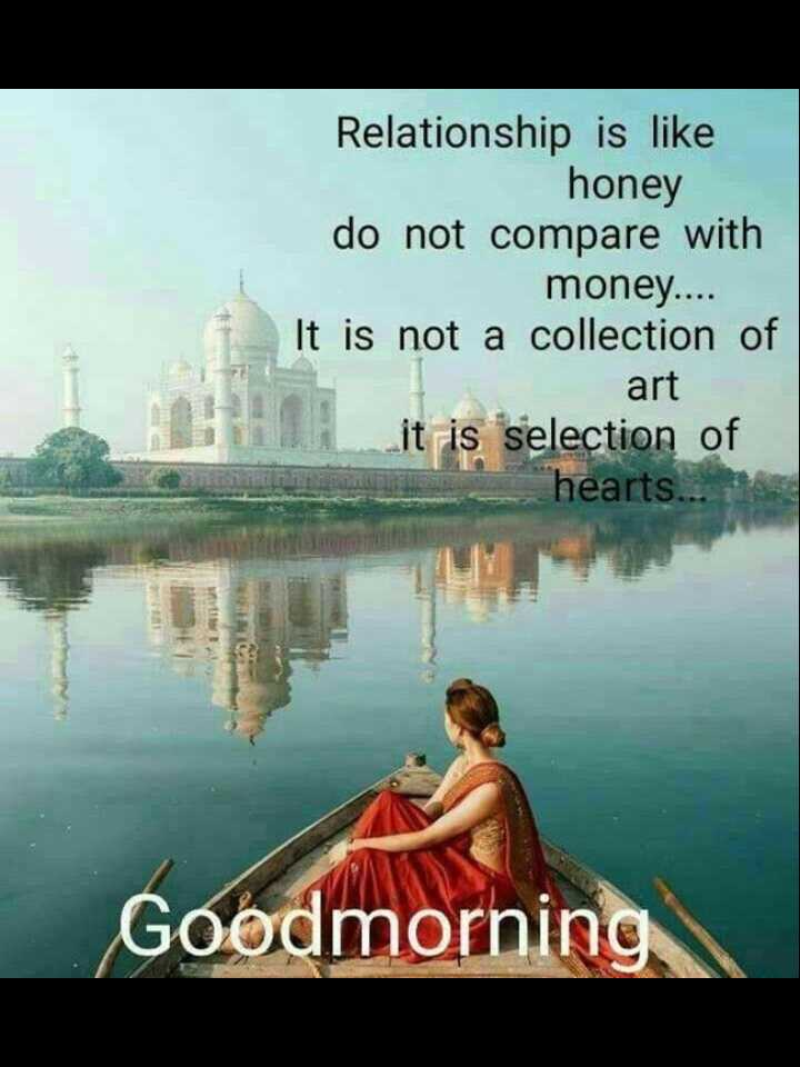 👉 Saturday Motivation - Relationship is like honey do not compare with money . . . . It is not a collection of art it is selection of hearts . . . Goodmorning - ShareChat
