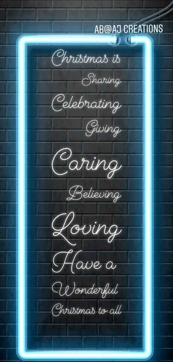 ab@aj - ABAT CREATIONS Christmas is Sharing Celebrating Giving Caring Believing Loving Have a Wonderful Christmas to alle - ShareChat