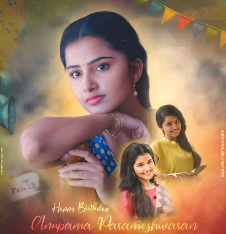 💕💖anupama💖💕 - # SRIKANTH SRI _ CREATIONS # SRIKANTH _ SRL CREATIONS Feb 18 Happy Birthday | _ Armporna Varaneshwaran - ShareChat