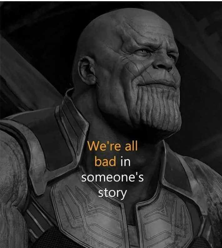🤚 avengers endgame - We ' re all bad in someone ' s story - ShareChat