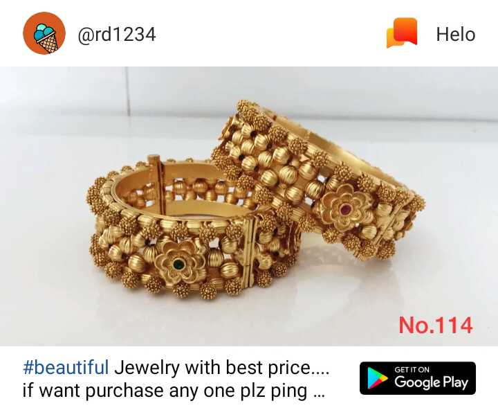 😍 awww... 🥰😘❤️ - @ rd1234 No . 114 # beautiful Jewelry with best price . . . . if want purchase any one plz ping . . . GETITON - ShareChat