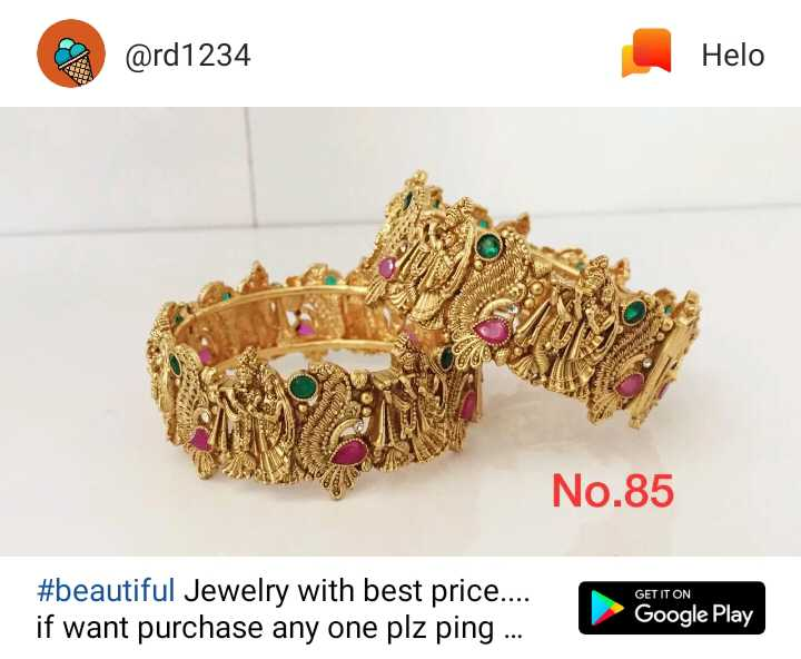 😍 awww... 🥰😘❤️ - @ rd1234 No . 85 # beautiful Jewelry with best price . . . . if want purchase any one plz ping . . . GETITON - ShareChat