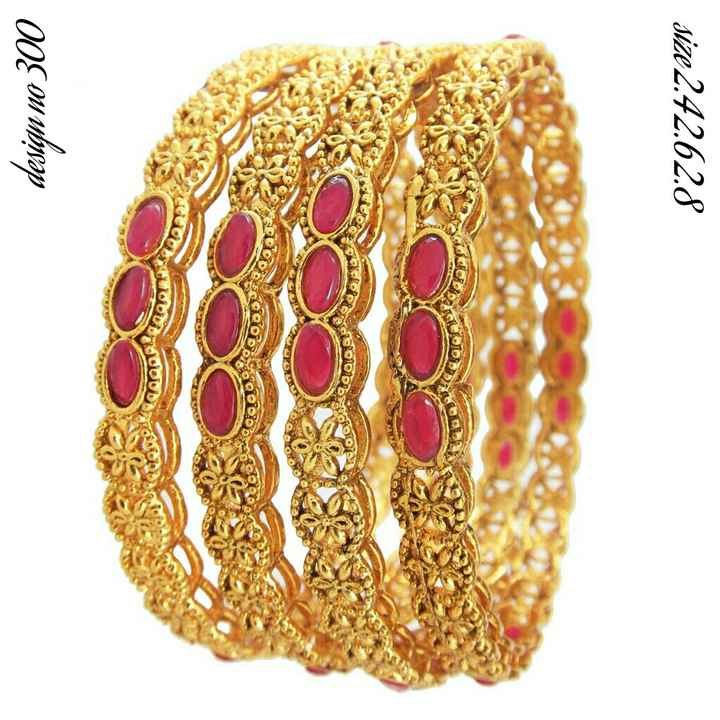 bangles - size 2 . 42 . 62 . 8 FO 00101010 TO COD DEC O ODG000 COUCO DO DUDA design no 300 - ShareChat