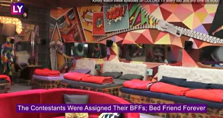 bigg boss12 - Ninoly walch these episodes on LULURS IV every day and any time on VUU ) The Contestants Were Assigned Their BFFs ; Bed Friend Forever - ShareChat