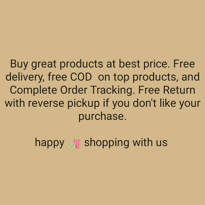 👩ಶೇರ್ ಚಾಟ್ ಸಖಿ - Buy great products at best price . Free delivery , free COD on top products , and Complete Order Tracking . Free Return with reverse pickup if you don ' t like your purchase . happy shopping with us - ShareChat