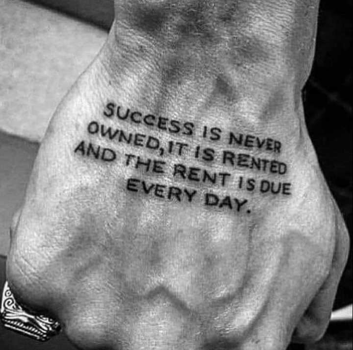 change lifestyle - SUCCESS IS NEVER OWNED , IT IS RENTED AND THE RENT IS DUE EVERY DAY . - ShareChat