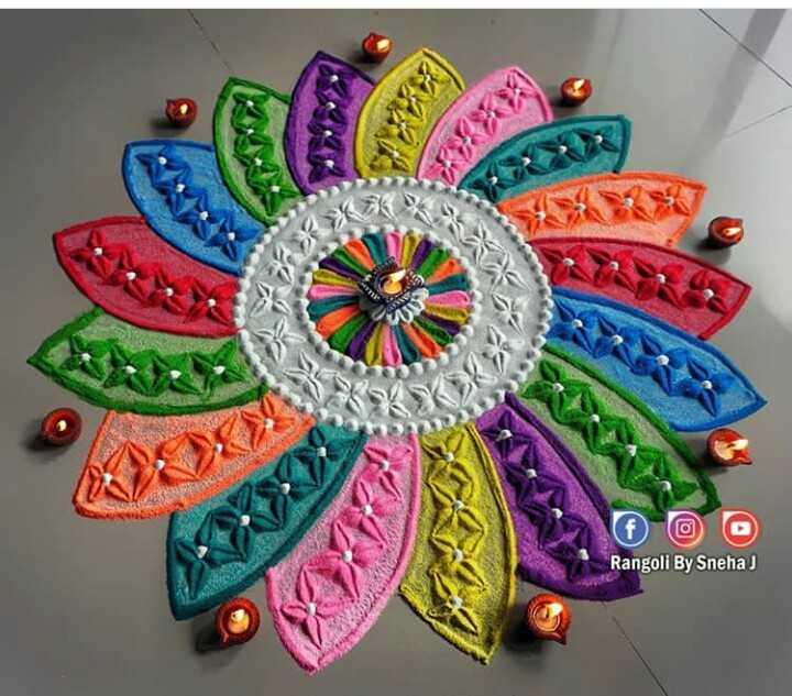 diwali best rangoli  😍 - Rangoli By Sneha - ShareChat