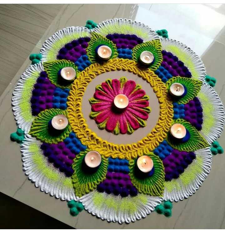 diwali best rangoli  😍 - cu ON CO : - ShareChat