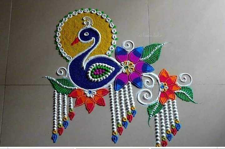 diwali best rangoli  😍 - ShareChat