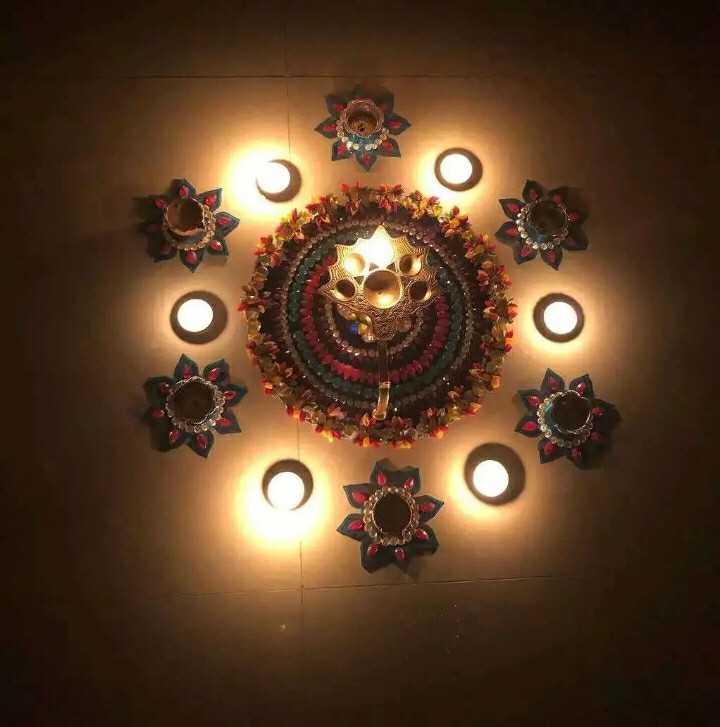 diwali best rangoli  😍 - ܘ - ShareChat